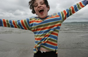 Finn So Happy By The Atlantic Ocean